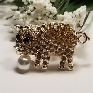Cute Pig Brooch